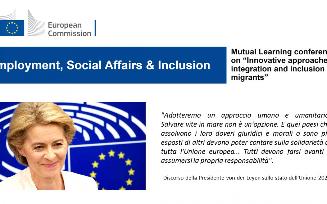 """Il progetto ESPoR alla Mutual Learning Conference """"Approcci innovativi all'integrazione e all'inclusione dei migranti"""" della DG EMPL – Commissione Europea"""