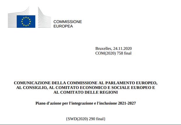 Piano d'azione per l'integrazione e l'inclusione 2021-2027