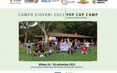 Campo Giovani 2021 su cambiamento climatico e migrazioni
